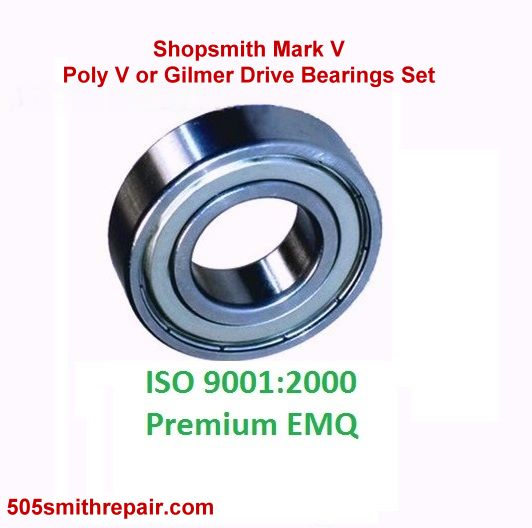 Shopsmith Main Drive Bearings Set